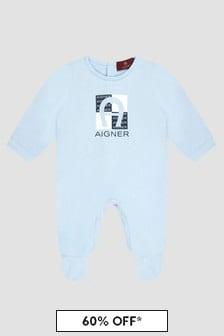 Aigner Baby Boys Blue Sleepsuit