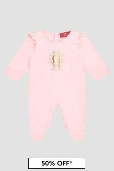 Aigner Baby Girls Pink Sleepsuit