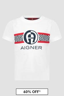 Aigner Baby Boys White T-Shirt