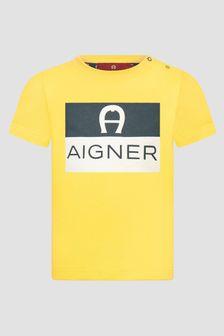 Aigner Baby Boys Yellow T-Shirt