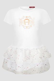 Aigner Baby Girls White Dress
