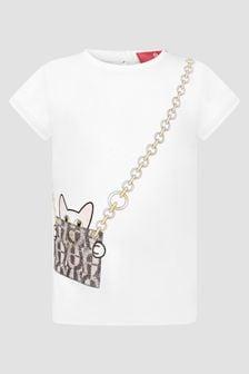 Aigner Baby Girls White T-Shirt