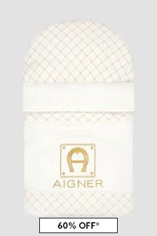 Aigner Baby White Sleep Bag