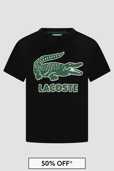 Lacoste Kids Boys Black T-Shirt