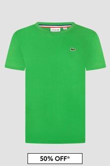 Lacoste Kids Boys Green T-Shirt