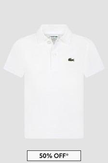 Lacoste Kids Boys White Polo Shirt