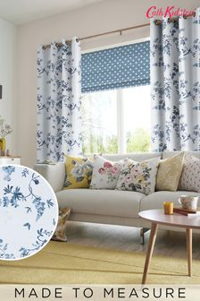Cath Kidston Birds & Roses Blue Made To Measure Curtains