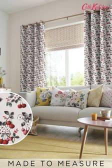 Cath Kidston Cherry Sprig Red Made To Measure Curtains