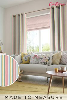 Cath Kidston Cream Mid Stripe Candy Made To Measure Curtains