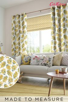 Cath Kidston Mimosa Flower Citrine Made To Measure Curtains