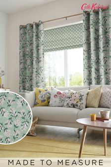 Cath Kidston Green Mimosa Flower Made To Measure Curtains