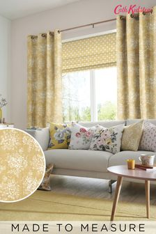 Cath Kidston Washed Rose Ochre Made To Measure Curtains