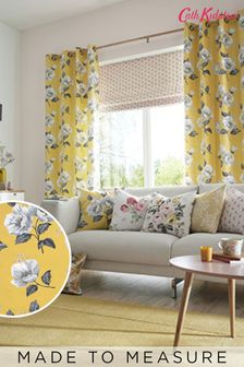 Cath Kidston Wild Poppies Citrine Made To Measure Curtains