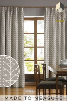Orla Kiely Silver Linear Stem Made To Measure Curtains