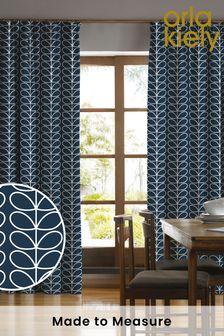 Orla Kiely Blue Linear Stem Made To Measure Curtains