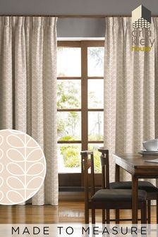 Orla Kiely Brown Linear Stem Made To Measure Curtains