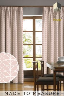 Orla Kiely Linear Stem Pink Made To Measure Curtains