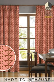 Orla Kiely Pink Linear Stem Summer Made To Measure Curtains