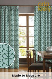 Orla Kiely Linear Stem Spring Made To Measure Curtains