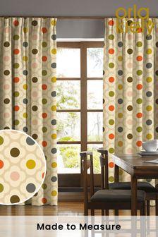 Orla Kiely Cream Flower Spot Summer Made To Measure Curtains