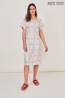 White Stuff Natural Dixie Linen Dress