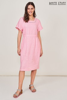 White Stuff Pink Dixie Linen Dress