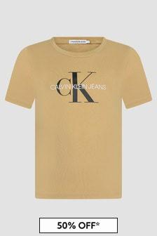Calvin Klein Jeans Boys Khaki T-Shirt