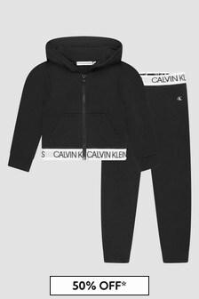 Calvin Klein Jeans Girls Black Tracksuit