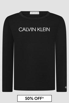 Calvin Klein Jeans Girls Black T-Shirt