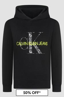 Calvin Klein Jeans Boys Black Hoodie