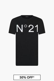 N°21 Kids Black T-Shirt