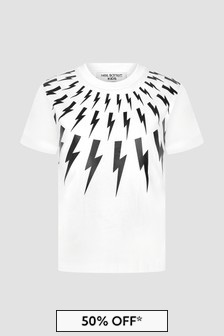 Neil Barrett Boys White T-Shirt