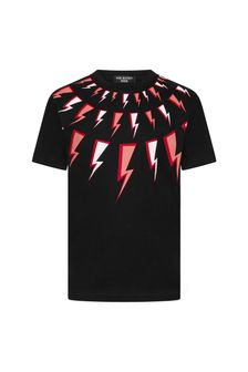 Neil Barrett Boys Black T-Shirt