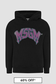 MSGM Kids Black Hoodie