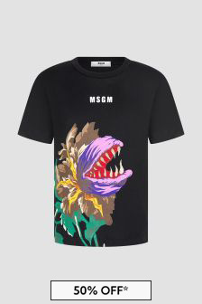 MSGM Boys Black T-Shirt