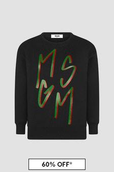 MSGM Boys Black Sweat Top