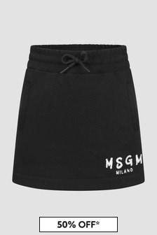 MSGM Girls Black Skirt