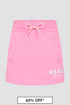 MSGM Girls Pink Skirt