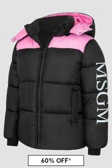 MSGM Girls Black Jacket