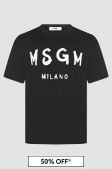 MSGM Kids Black T-Shirt
