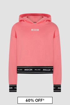 MSGM Girls Pink Hoodie