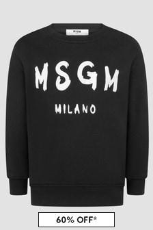 MSGM Kids Black Sweat Top