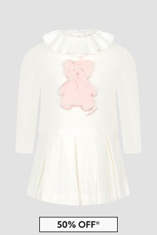 Patachou Baby Girls White Dress