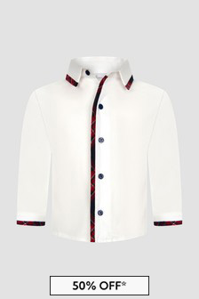 Patachou Boys White Shirt