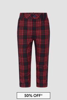 Patachou Boys Red/Black Trousers