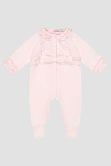Patachou Baby Girls Pink Sleepsuit