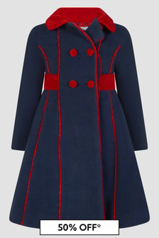 Patachou Girls Navy Coat