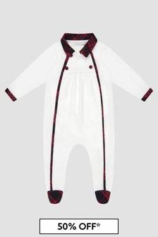Patachou Baby Boys White Sleepsuit