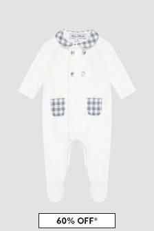 Tartine et Chocolat Baby Boys White Sleepsuit