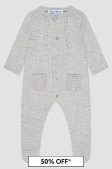 Tartine et Chocolat Baby Boys Grey Sleepsuit